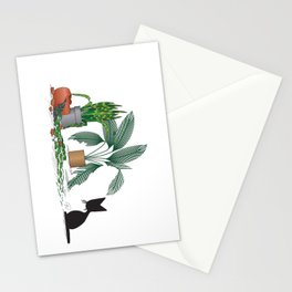 House Salad (The Naughty Kitten) Stationery Cards