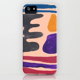 33| 190330 Abstract Shapes Painting iPhone Case