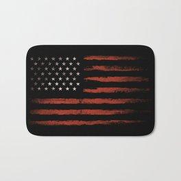 American flag Grunge Black Bath Mat