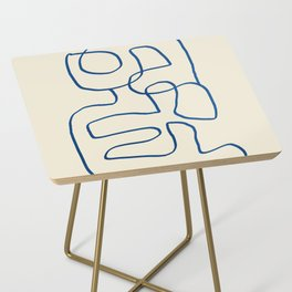 Abstract line art 16 Side Table