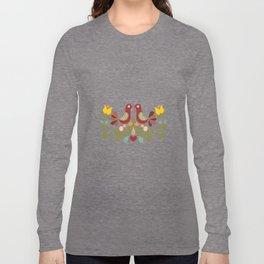 Vector folk art design Long Sleeve T-shirt