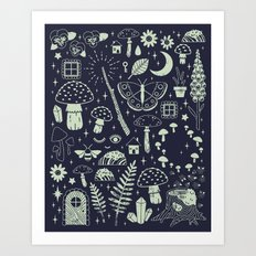 Fairy Garden: Midnight Art Print