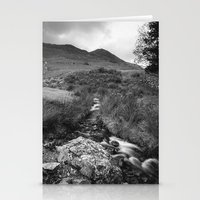 cassia beck Stationery Cards featuring Cinnerdale Beck above Crummock Water with Whiteless Pike beyond. Lake District, UK. by liamgrantfoto