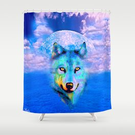WOLF #2 Shower Curtain