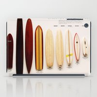 surfboard iPad Cases featuring Surfboard Evolution by John Lyman Photos