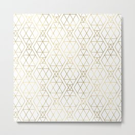 Modern Art Deco Geometric 1 Metal Print
