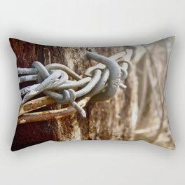 Tangled Barbed Wire Rectangular Pillow