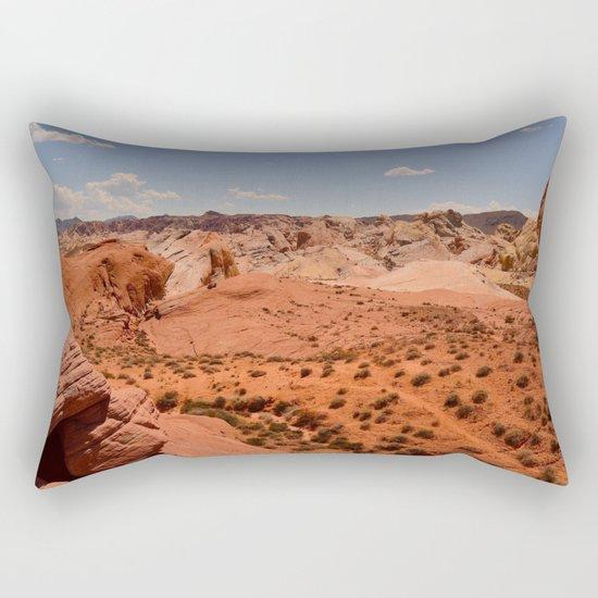 Red Valley II Rectangular Pillow
