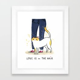 Love is in the hair Framed Art Print