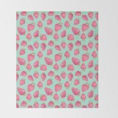 Strawberry  Throw Blanket