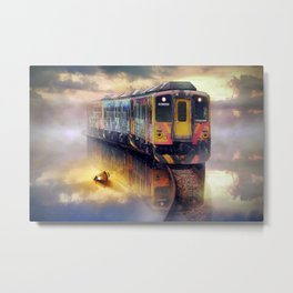 Take A Ride ON A Fonebook Ghost Train Metal Print