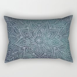 Blooming Mandala - blues Rectangular Pillow