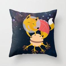 Zorrito Planetario Throw Pillow