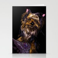 yorkie Stationery Cards featuring Yorkie Terrier by Eliza Leahy