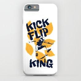 Skateboard Kick Flip King iPhone Case