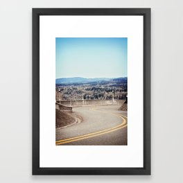 Curves are a Good Thing Framed Art Print