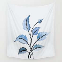 Blue leaves Wall Tapestry