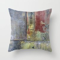 heavy metal Throw Pillows featuring Heavy Metal by Bestree Art Designs