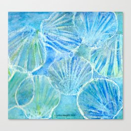Scalloped in Blue Canvas Print