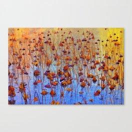 Dead Lotus Flower Canvas Print