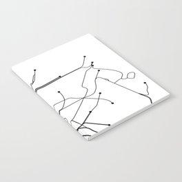 New York City White Subway Map Notebook