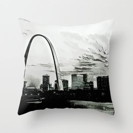 St. Louis Noir Throw Pillow