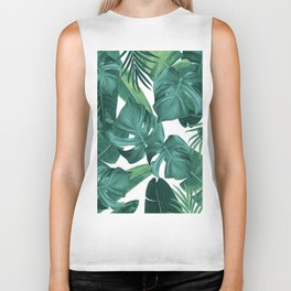 Tropical Summer Jungle Leaves Dream #2 #tropical #decor #art #society6 Biker Tank