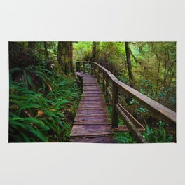 Walks through the Rainforest on Vancouver Island, Canada Rug