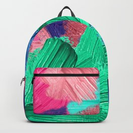 8   | Abstract Expressionism| 210210| Digital Abstract Art Textured Oil Painting Backpack