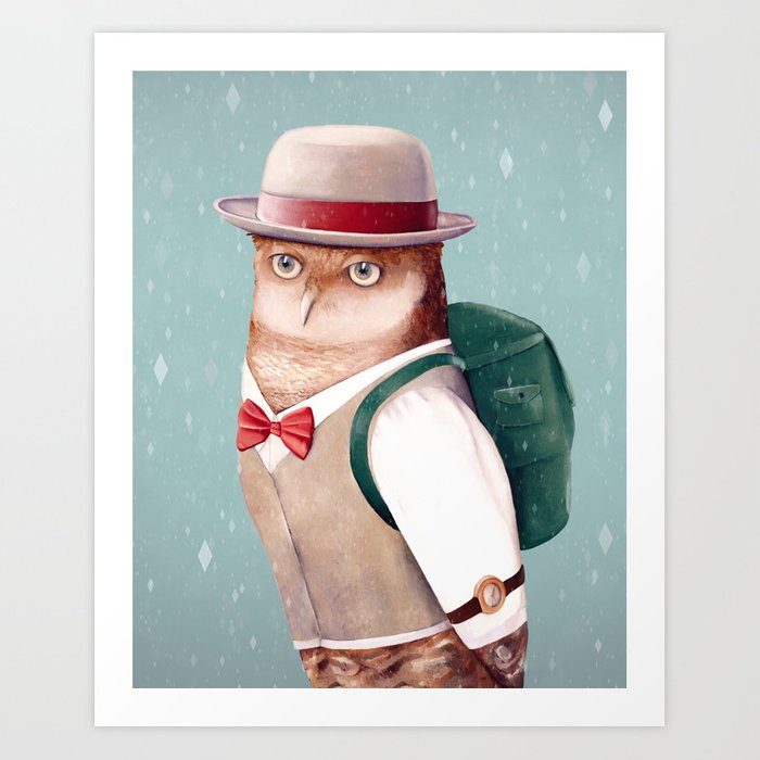Going Home For Christmas Art Print