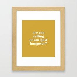 Hungover Framed Art Print