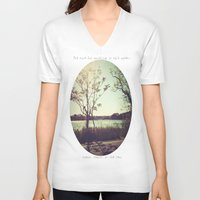 salt water V-neck T-shirts featuring salt water is the cure for anything. by Cecelia Ercolino