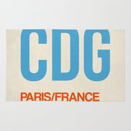 CDG Paris Luggage Tag 2 Rug