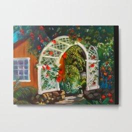Garden Arbor Metal Print