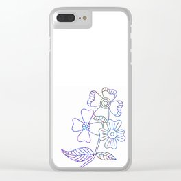 Sketchd Floral Art Clear iPhone Case