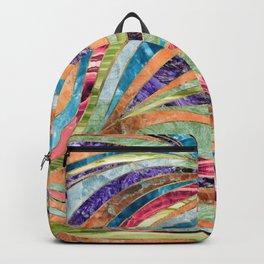 Multi Gemstone Wavy Pattern Backpack