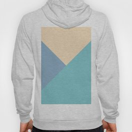 Green and blue and beige triangular pastel background Hoody