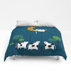 A cow jump over the moon Comforters