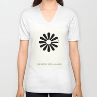 looking for alaska V-neck T-shirts featuring Looking for Alaska by green.lime