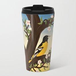 Oriole at Sunset Travel Mug