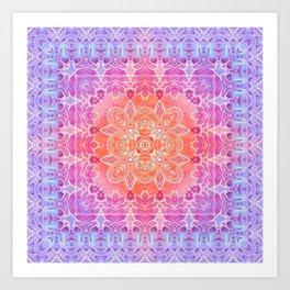 Sunrise Pattern Art Print