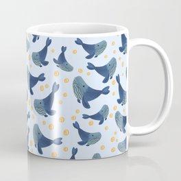 Swimming Blue Whales Coffee Mug