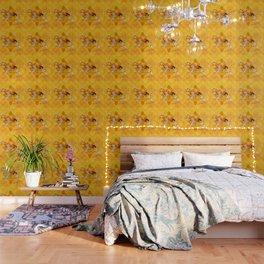 Yellow Batik Lion Wallpaper