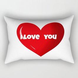 I love you ,Valentine's day design Rectangular Pillow