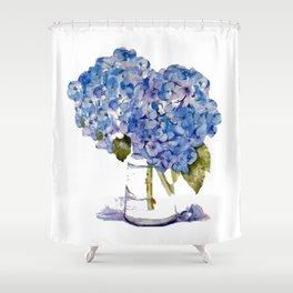 Hydrangea painting Shower Curtain