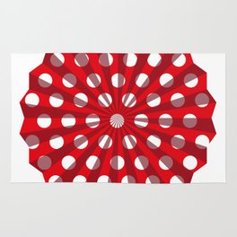 Lantern of white polka dots Rug