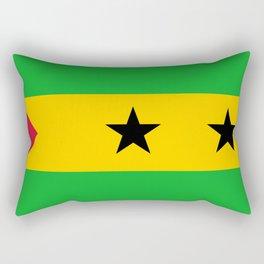 Flag of Sao Tome and Principe Rectangular Pillow