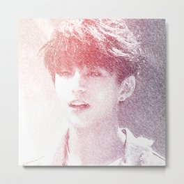 Jungkook Pencil Metal Print