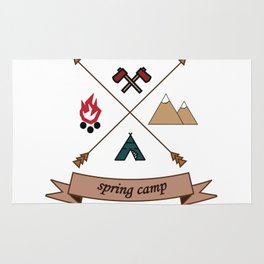 Camping Spring Camp adventure design Rug
