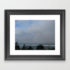 Rainbow over the Ocean Framed Art Print